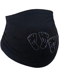 Bauchband La Belly Baumwolle schwarz Zwillinge Schwangerschaft Umstandsmode - Funkelfüße