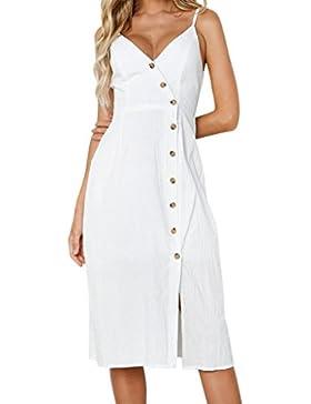 Vestidos de Mujer, ASHOP Vestido Verano 2018 Sin Mangas Casual Ajustados T-Shirt Vestido Coctel Fiesta Largo Dress...