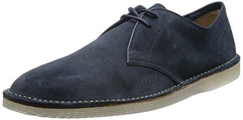 Clarks Darning Walk, Chaussures de ville homme Bleu (Dark Blue Suede)