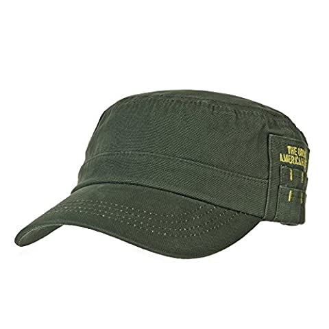 WITHMOONS Militaire Casquette de Baseball Cadet Cap Cotton Twill Side Embroidery Adjustable Hat CR4265 (Green)