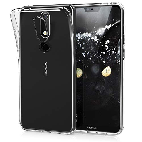 kwmobile Nokia 5.1 Plus (2018) / X5 Cover - Custodia per Nokia 5.1 Plus (2018) / X5 in Silicone TPU - Back Case Protezione Posteriore Trasparente