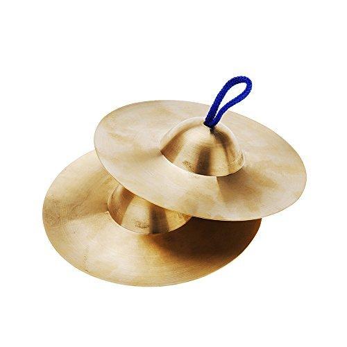 Andoer® 15cm / 5.9in Mini Kleine Kinder Kupfer Hand Becken Gong Band Rhythmus Schlag Schlagzeug Musikinstrument Spielzeug