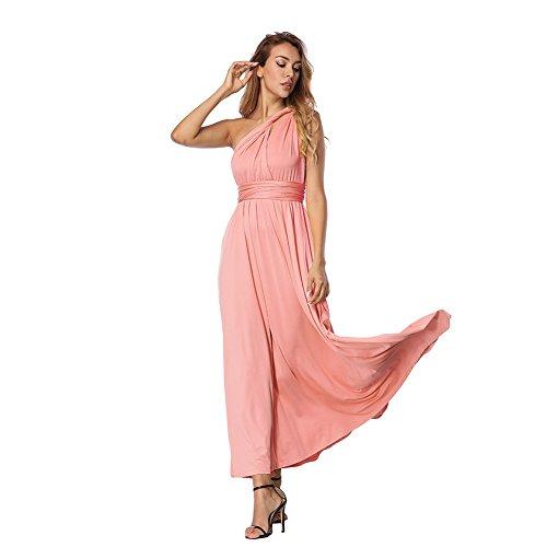 Damen V Ausschnitt A-Linie Kleid Träger Rückenfreies Kleider Sommerkleider Strandkleider Knielang