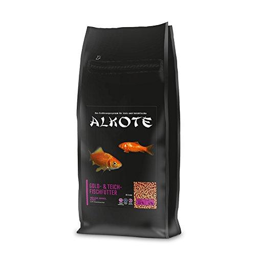 AL-KO-TE, 3-Jahreszeitenfutter für kleine Kois, Frühjahr bis Herbst, Schwimmende Pellets, 2mm, Gold-& Teich-Fischfutter, 2 kg