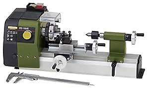 Proxxon 24150 Tour de Précision/Transmission par courroie à 2 positions avec réglage électronique de la vitesse, Vert/gris