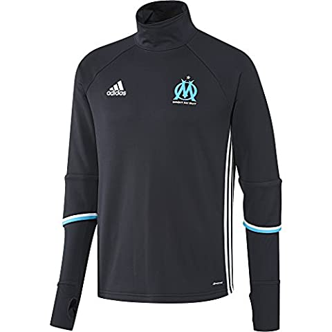 adidas Olympique Marseille Maillot Manches Longues Homme, Night Navy/White/Om Blue, FR : S (Taille Fabricant : S)