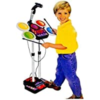 TOYMANIA Amazing Musical Electronic JR. Drum Beat Toys Set for Kids. | with MP3 Plug-in Feature, Microphone and Pedal…