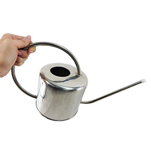 Reze 900 ml en acier inoxydable Miroir Long Bec Arrosoir Pot outils de jardinage