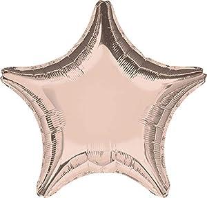 Amscan International-3618702forma globo en forma de estrella, rosa/oro