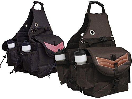 Derby Originals Tahoe Tack Nylon Multi Pocket Pferd Sattel Taschen mit Leder Overlay braun