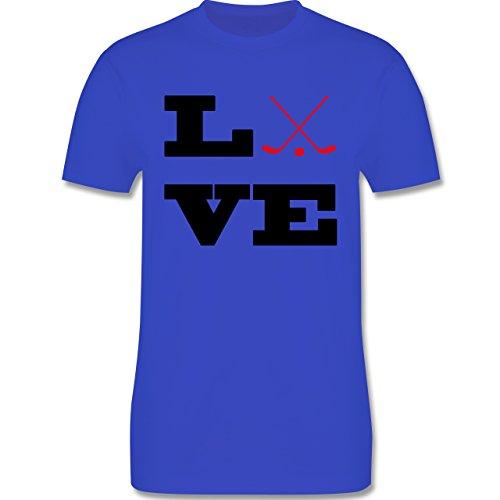 Eishockey - Eishockey Love - Herren Premium T-Shirt Royalblau