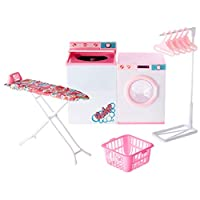 MagiDeal Washing Machine Dollhouse Toy Simulation Model Toys Pretend Game Toy