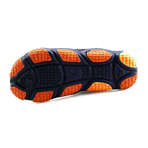 Bainasiqi Mens Perizoma Estate Scarpe Da Spiaggia Allaperto Per Il Tempo Libero Infradito Muli Ultralight Antiscivolo Pantofole Pantofole Blu-arancio