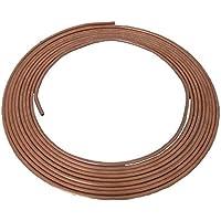 Techniks BP01 - Bobina para tubo de freno de coche (cobre, 4,75 mm x 25 pies, mejor resistencia, probado para resultados de presión de resistencia y quemadura)
