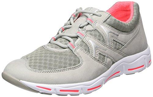 Gabor Damen Comfort Sneakers Grau (42 Hell Grau Pink)