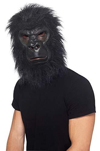 Smiffy'S 24238 Máscara De Gorila Con Pelo, Negro