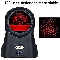Lector de códigos de barras 1D MUNBYN con sensor automático y escáner láser omnidireccional de 100 líneas.