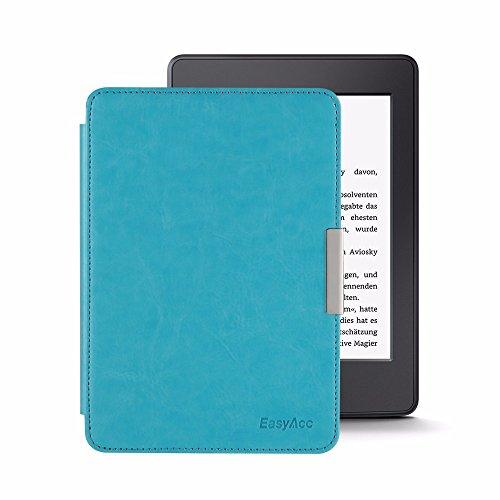EasyAcc Kindle Paperwhite Cover in pelle custodia - con Sonno / Sveglia la Funzione Compatibile con tutte le generazioni di Kindle Paperwhite - Blu in pelle
