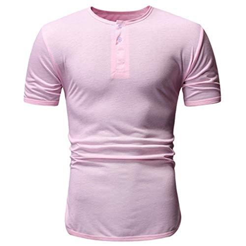 VWsiouev Männer Knöpfe Lässige Kurzarm Raglan Henley Jersey Hoodie T Shirt Sport Tops Belted Jersey-shorts
