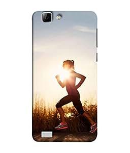 PrintVisa Designer Back Case Cover for VivoX3S (running gym exercise for fitness)
