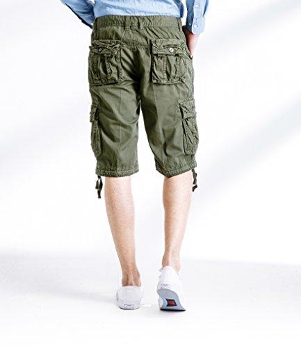GUUKA Herren Bermudas Cargo Shorts Olivgrün