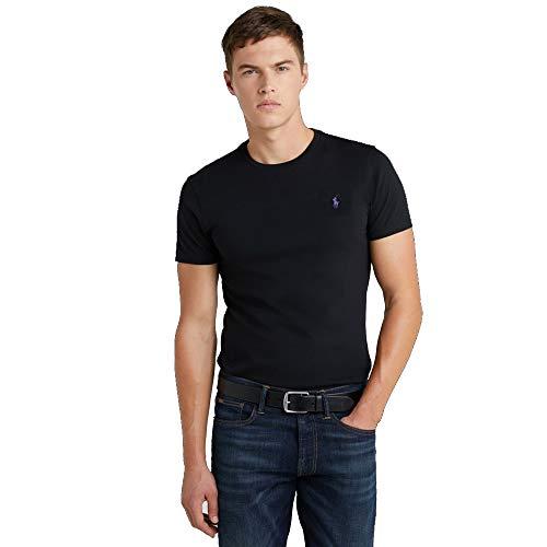Ralph Lauren Herren T-Shirt Custom Fit (XXL, Black Polo)