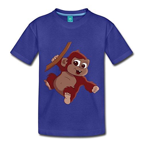 Kleiner Affe Kinder Premium T-Shirt von Spreadshirt®, 134/140 (8 Jahre), Königsblau