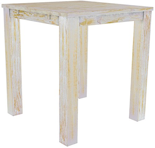 Brasil Meubles Haut 'Rio Classico' Table 120 x 120 cm, Pin Massif, Coloris Shabby Miel