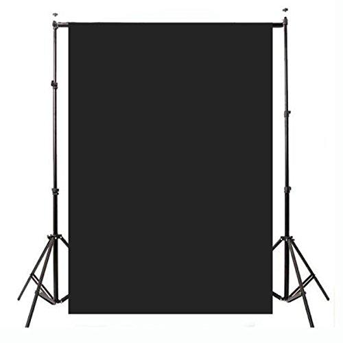HANO 2.1x1.5m 5x7ft Plain Schwarz Thinyl Studio-Hintergrund Fotografie Prop Foto Hintergrund (Schwarzem Studio Hintergrund)