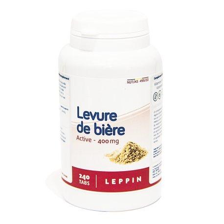 Akne Natürlich Cure (Leppin–Bierhefe Active/revivifiable/Lebendig 240Tabletten–Nahrungsergänzungsmittel natürlichen)