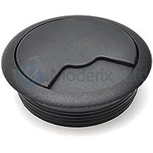 Tapon pasacables para mueble de sala, escritorio plástico negro 60mm