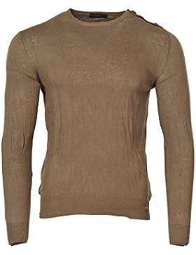 Zanone Suéter Hombre Verde normal algodón casual 48