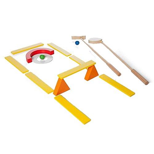BuitenSpeel GA269 - Spiel, Minigolf mit 2 Schlägern und Bällen aus Holz