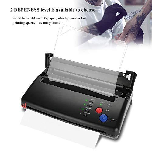 Tattoo Transfer Machine, 2Types Portable A5 A4 Papier Schwarz Tattoo Transfer Schablone Thermo Kopierer Drucker Maschine (EU) (Thermo-transfer-papier)