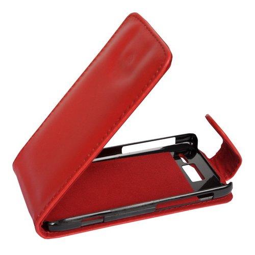 Flip Case Etui Handytasche Tasche Hülle für Motorola RAZR i XT890 (Rot)