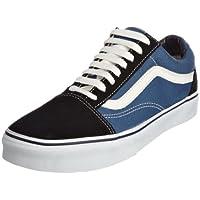 Vans Unisex Adults Old Skool Classic Suede/Canvas Sneakers, Blue (Navy), 9.5 UK (44 EU),VD3HSU