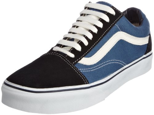VANS Unisex-Erwachsene Old Skool Sneakers, Colour is Blue (Navy), 44 EU (Blue Suede Vans)