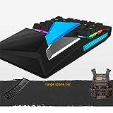Einhand Mini Mechanische Gaming Tastatur Tastatur Für Windows PC Eine Hand Verdrahtete Mini Gamepad Gameboard FPS CF Gamer mit 28 Programmierbare LED