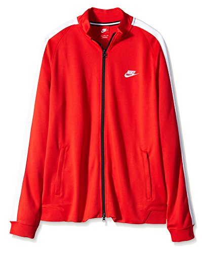 Nike, Giacca Uomo N98 Track Retro, Rosso (Rot), XL Rosso (Rot)
