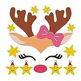 TREESTAR Stickers Muraux Home Artwork PVC Stickers Muraux Imperméables pour La Maternelle Filles Pépinière Chambre Chambre Dortoir Amovible 25x25CM