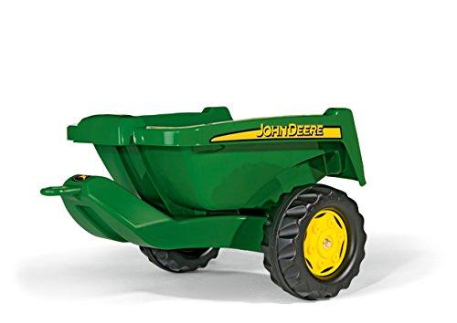 Trettraktor Anhänger Rolly Toys Anhänger rollyKipper II John Deere, Einachsanhänger mit Kippfunktion für Kinder zwischen 2,5 und 10 Jahren, grün, 128822