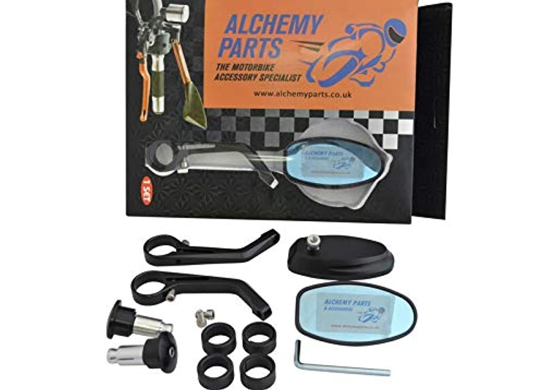 JenNiFer Vis De Prise De Trou De Miroir M10X1.25 CNC pour Honda//Yamaha//Suzuki//Kawasaki Noir