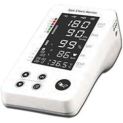 La Empresa GIMA 35162 Pulso PC-300 Multiparametrico Monitor, NIBP, TEMP, PL con Pantalla