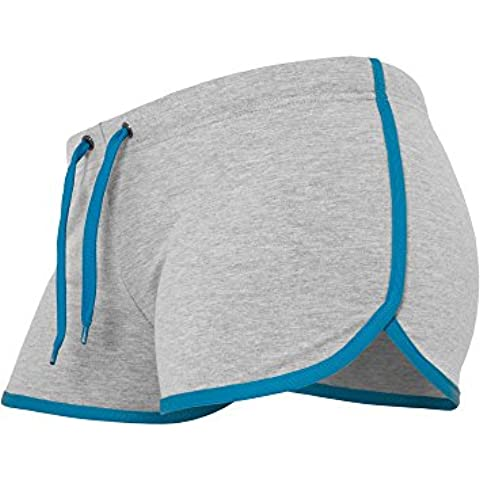 Ladies French Terry Hotpants gry/tur