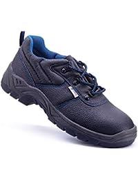Anibal Uxama - Zapato piel serraje perforada (43, seguridad)