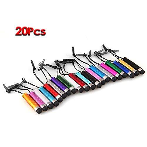 20 Mini Metall Stift Stift Ersatzstift Eingabestift für iPhone iPod Touch iPad[Gruppe] Mini-Kopfhörerbuchse Touch-Stift 20 Stücken