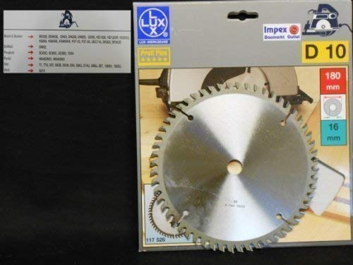 OBI LUX 117526 D10 Profi Plus HM-Kreissägeblatt 180 x 16 mm, 56 Z