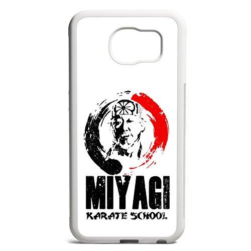 Smartcover Case Miyagi Karate School z.B. für Iphone 5 / 5S, Iphone 6 / 6S, Samsung S6 und S6 EDGE mit griffigem Gummirand und coolem Print, Smartphone Hülle:Iphone 5 / 5S schwarz Samsung S6 EDGE weiss