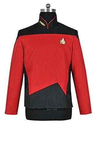 DreamDance Star Trek TNG Cosplay Sciences Uniform Costume Red