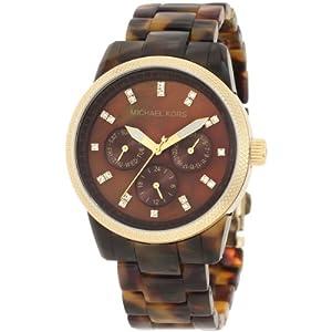 Reloj de mujer Michael Kors Mk5038 de cuarzo, correa de plástico color marrón de Relojitos Euromediterranea